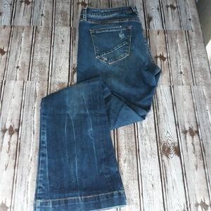 Dear John Distressed Rosie Flare Jeans sz 30